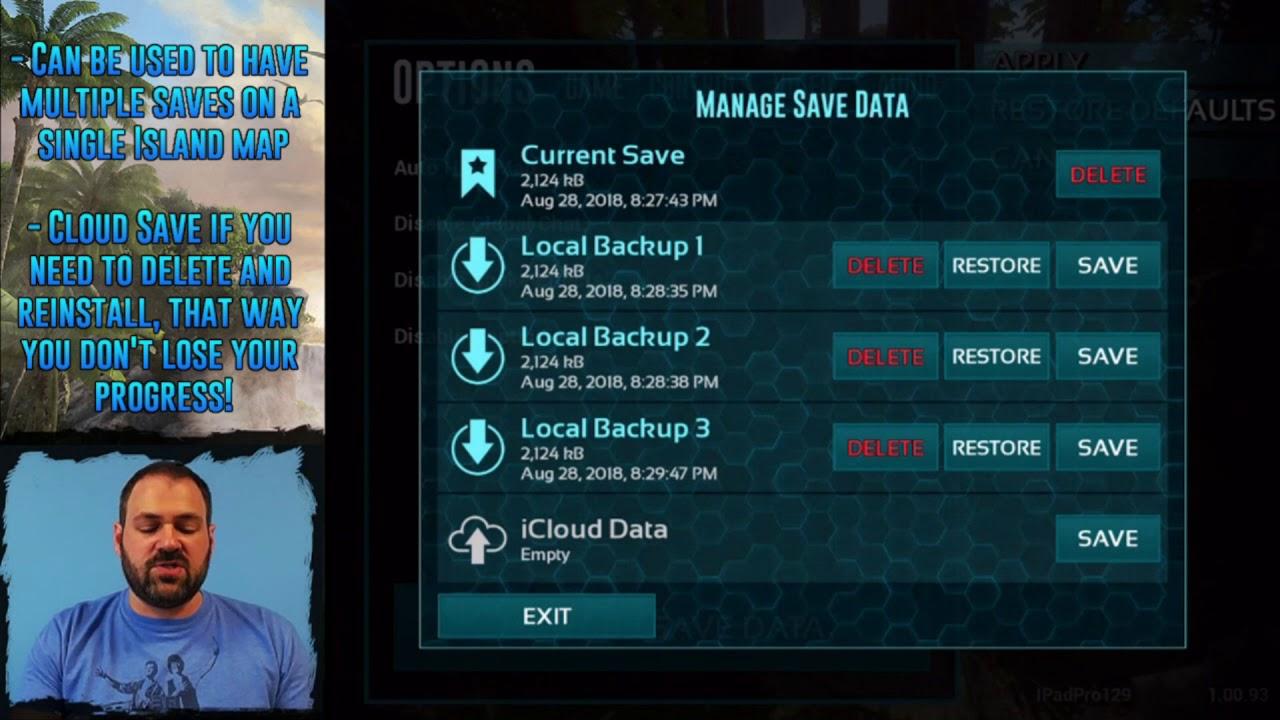 Spotlight: Save Data Management (ARK: Survival Evolved Mobile)