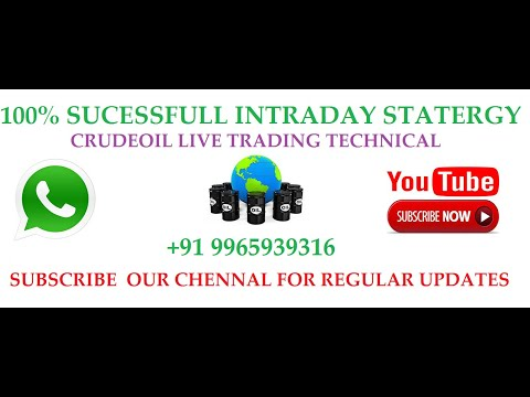 Crudeoil, copper, zinc live INTRADAY trading technical tips in Tamil YouTube