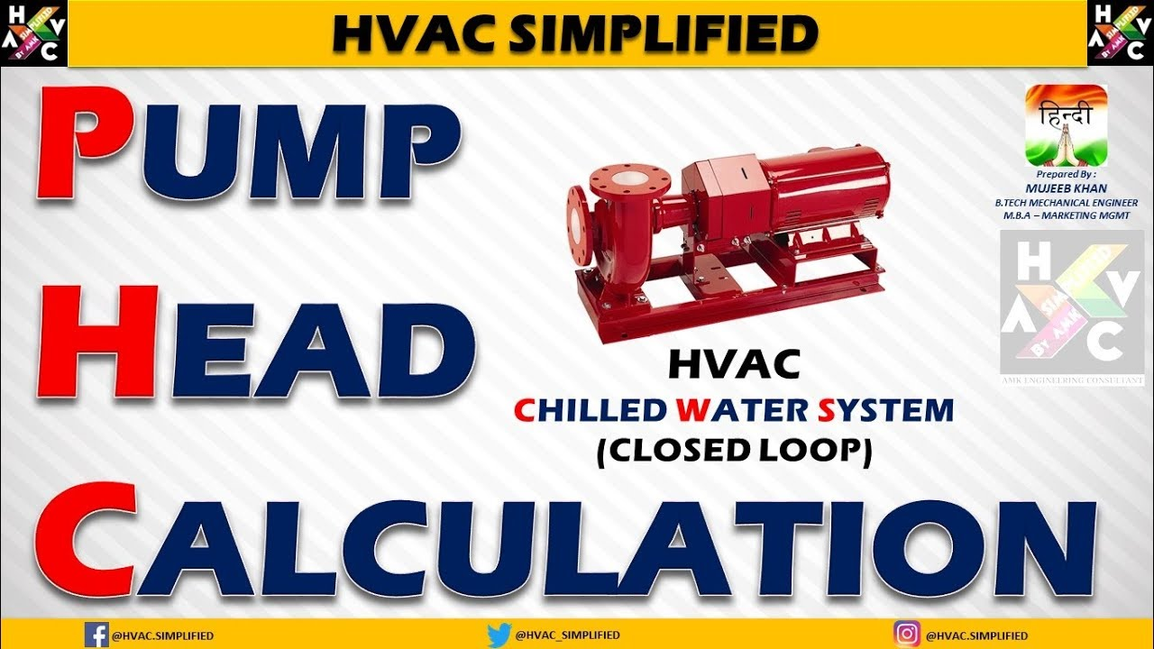 Pump Head Calculation - HVAC Chilled Water System