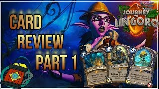Hearthstone :Card Review/Impressions Part 1(13 cards) Journey to Un