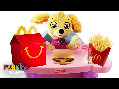 Thumbnail: Best Learn Colors Videos PAW PATROL Baby Skye Eats McDonald's Happy Meal & Fries with Toy Surprise