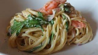 Spaghetti Mit Lachs & Rucola (rezept) || Spaghetti With Salmon & Rocket (recipe) || [eng Subs]