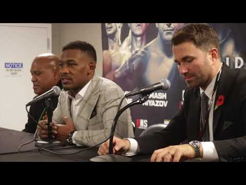 DANIEL JACOBS v LUIS ARIAS - OFFICIAL (POST FIGHT PRESS CONFERENCE  W/ EDDIE HEARN & ANDRRE ROZIER