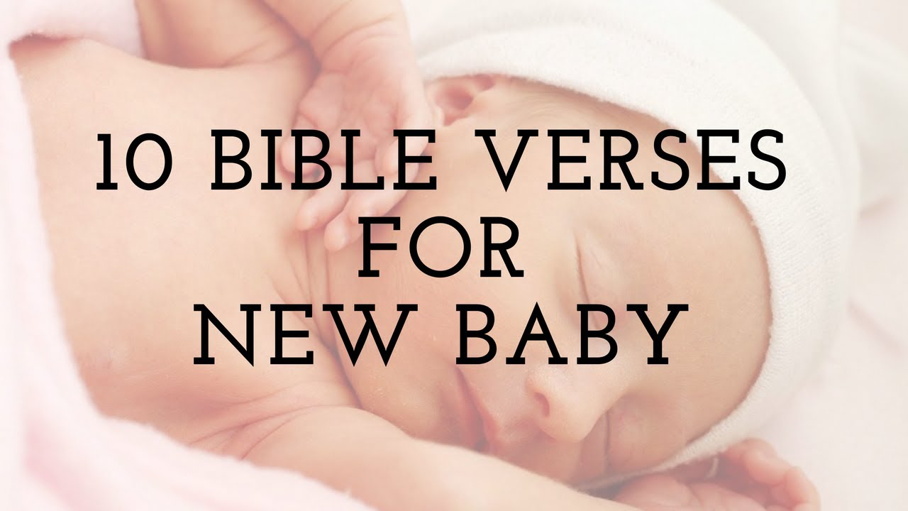 10 bible verses for new baby cards youtube - Baby deko mint ...