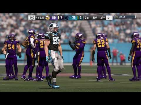Madden 17: Minnesota Vikings Claim Cam Newton (Full Game)