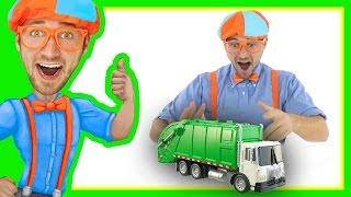 Compilation of Blippi Toys Videos | Garbage Trucks and more!
