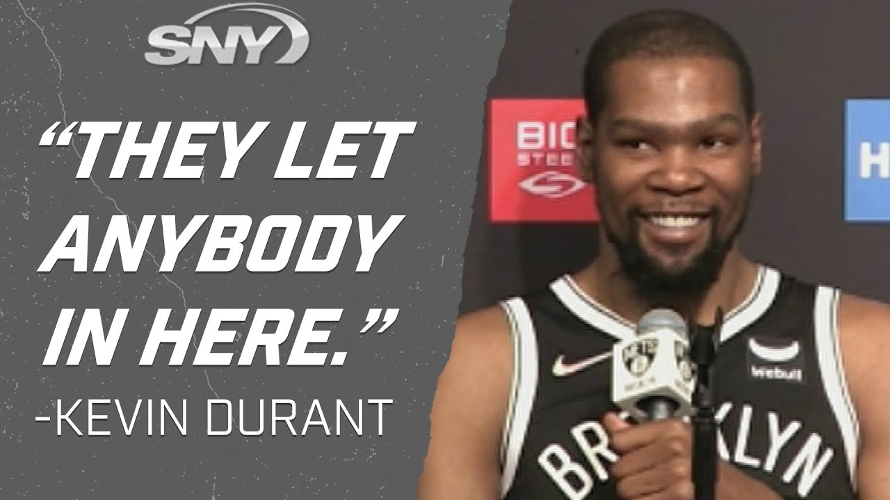 David Letterman shows up to Nets media day and questions Kevin ...