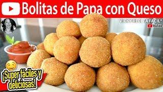 BOLITAS DE PAPA CON QUESO | Vicky Receta Facil
