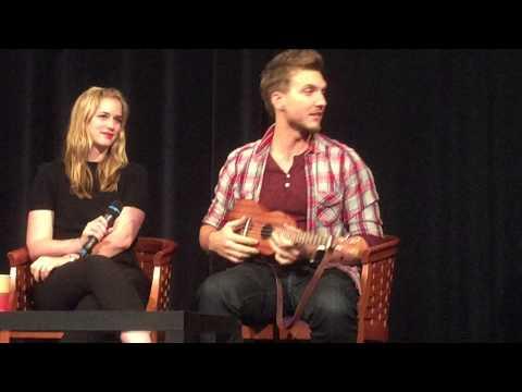 Scott Michael Foster playing the ukulele