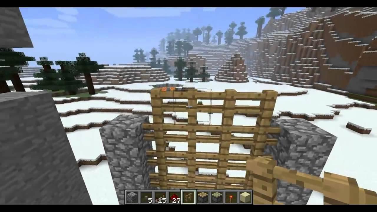 Cancello Di Legno Minecraft : Tutorial come costruire un cancello automatico in minecraft youtube