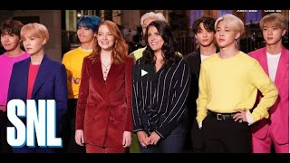 BTS, Emma Stone, and Cecily Strong come together for another teaser ahead of this week's 'Saturday N