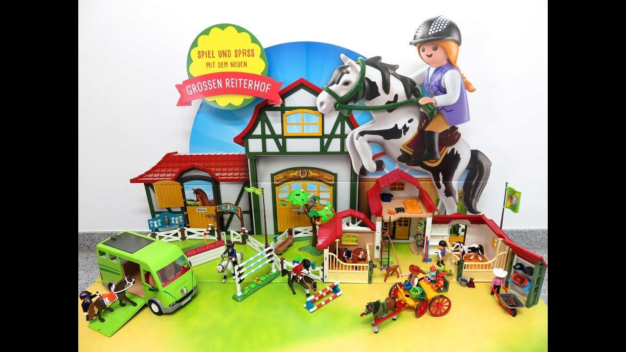 Neu playmobil country gro er reiterhof und pferde by - Pferde playmobil ...