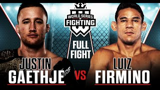 Full Fight | Justin Gaethje vs. Luiz Firmino (Lightweight Title Bout) | WSOF 34, 2016
