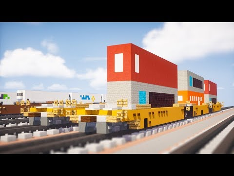 Minecraft Intermodal Container Well Car Tutorial thumbnail
