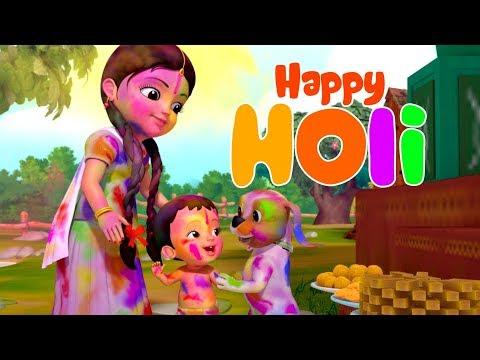 Rangbirangi Holi Song | Hindi Rhymes for Children | Infobells
