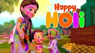 Rangbirangi Holi Song | Hindi Rhymes for Children | Infobells