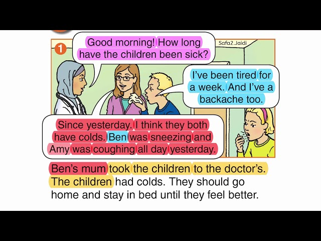 في العيادة || صف 6 فصل 2 صفحة 20
