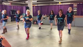 "The Giddy Up Gang Line Dances to ""Giddy- Up"" by the Chris Buck Band"
