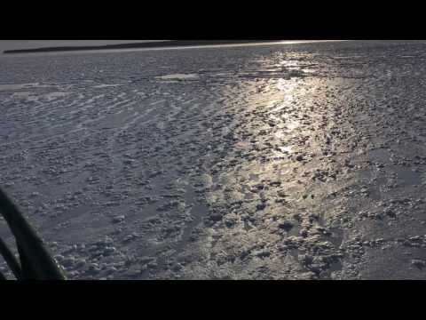 The cold Straits of Mackinac