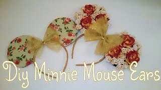 Diy Disney| Floral & Fabric Minnie Mouse Ears Thumbnail