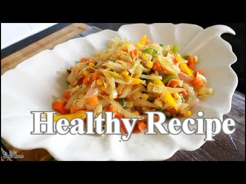 How To Make Amazing Stir fry Cabbage Healthy Recipe  | Chef Ricardo Cooking