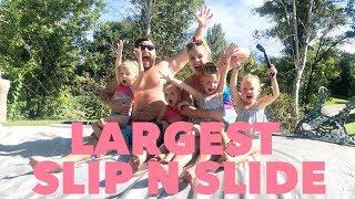 Worlds LARGEST Slip-n-Slide PARTY