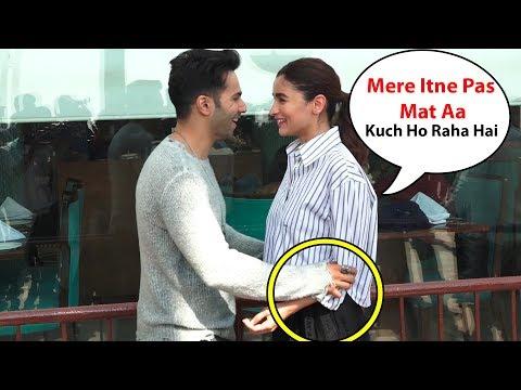 Alia Bhatt Feeling Shy When Varun Dhawan Came Close To Alia | kalank movie promotions