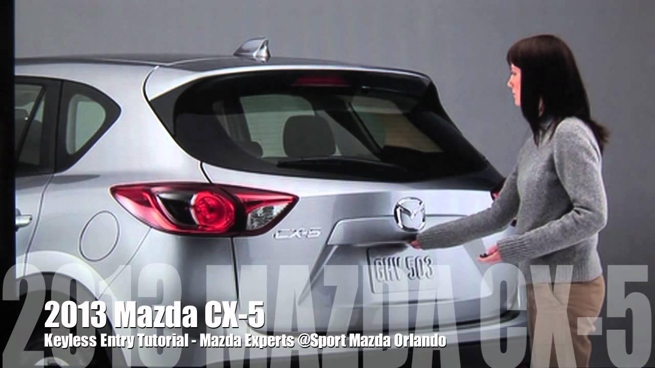 2013 Mazda CX-5 Keyless Entry Tutorial - YouTube