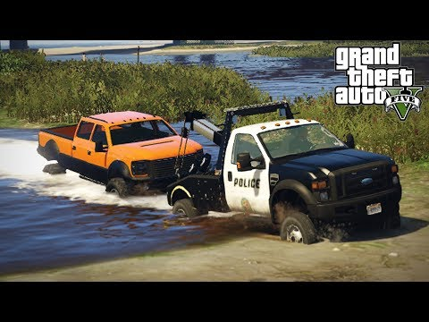 FORD F-550 Super Duty TOW TRUCK! 4x4 Off-Road Towing & Mudding! (GTA 5 PC Mods)