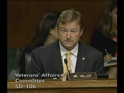 ICYMI: Heller Speaks at Senate Veterans