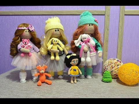 Куклы, игрушки вязаные крючком. Интерьерная, игровая кукла.