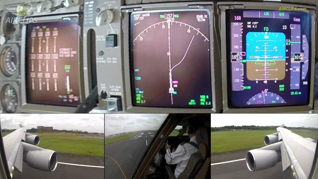 🇺🇸 B747 in CRAZY STORM GUSTS! Captain Enrique's famous Tokyo Landing, instrument close-up [AIRCLIPS]