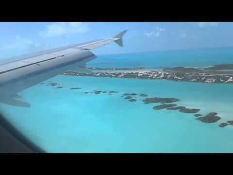 Landing in Turks Caicos.