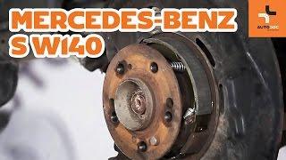Cum se înlocuiesc saboți frâna de mână pe Mercedes-Benz S W140 TUTORIAL | AUTODOC