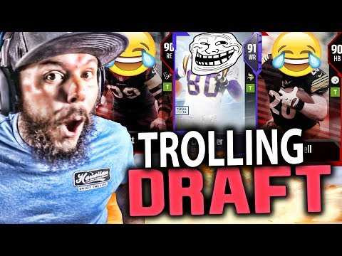 TROLLING ANOTHER YOUTUBER!! MADDEN 18 GAMEPLAY ( DRAFT CHAMPIONS )