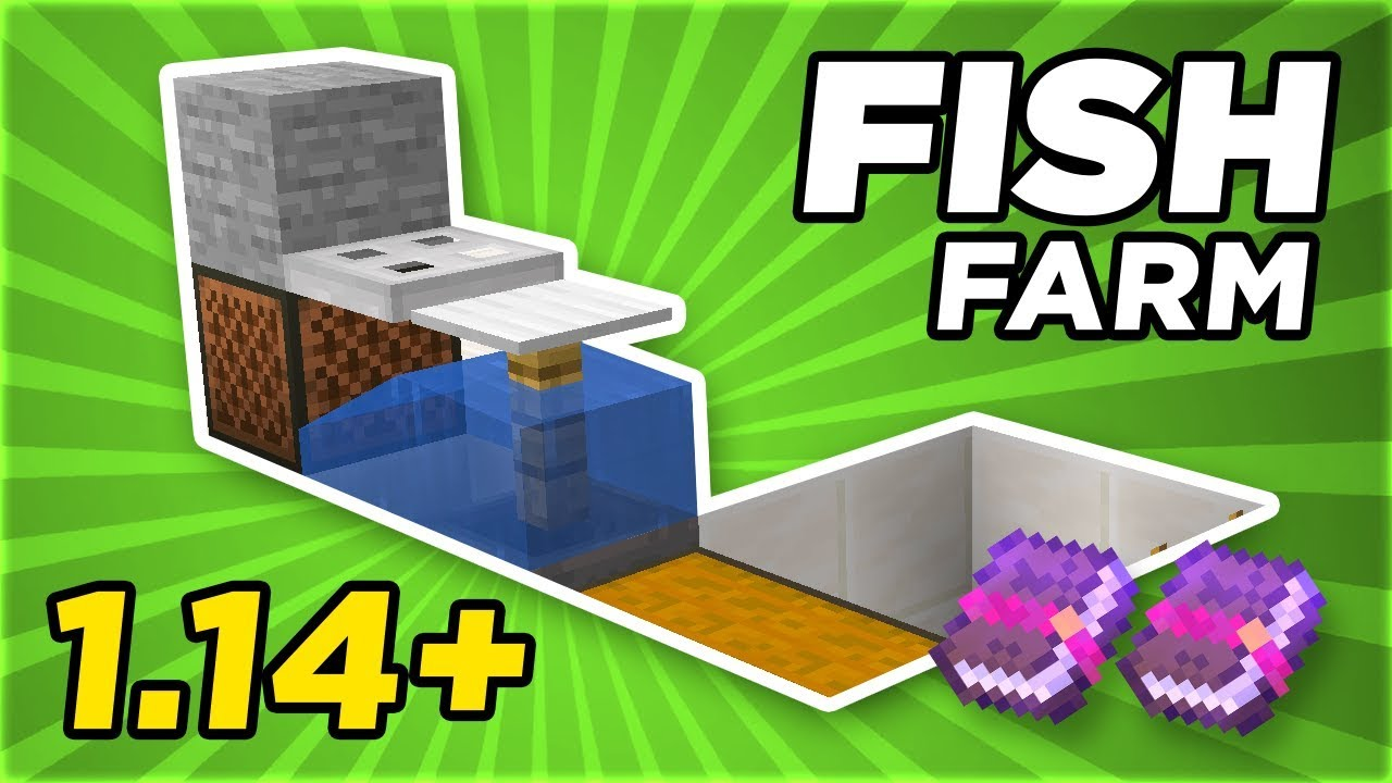 Simple & Fast Fish Farm 100.1004.100  Minecraft Tutorial  GamingRadio