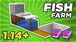 Simple & Fast Fish Farm 1.14.1 | Minecraft Tutorial | GamingRadio