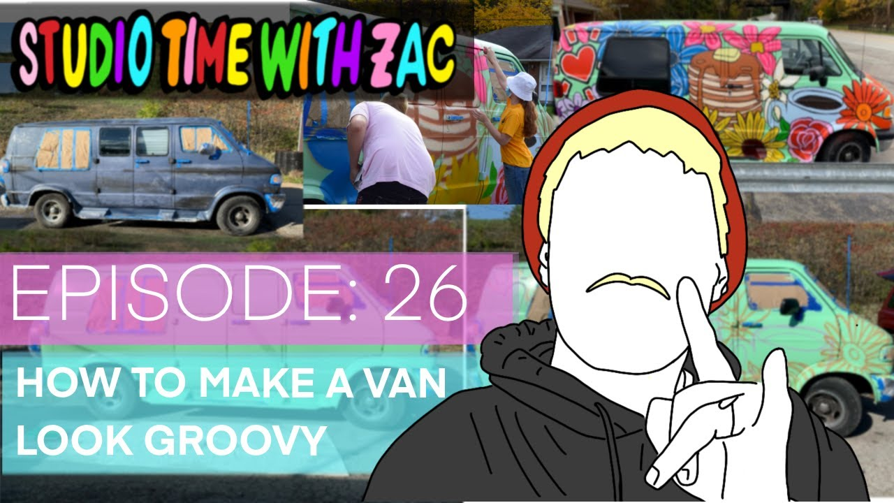 HOW TO PAINT A GROOVY VAN - Studio Time With ZAC #026 - Zachary Rutter Art - For Deer Creek Diner