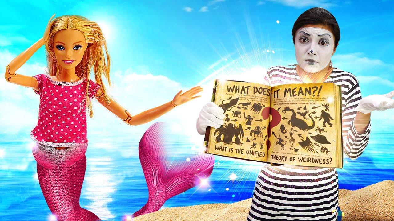 Barbie denizkızına dönüşüyor! Kız çocuklar için sihir yapma oyunu!
