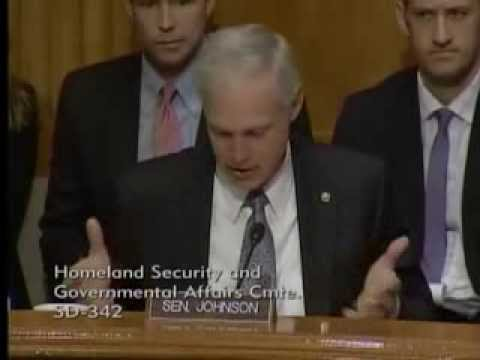 Senator Johnson at the Homeland Security and Governmental Affairs Committee