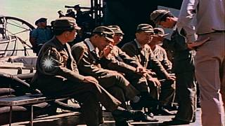Japanese Army and Navy officers and harbor pilots come aboard the USS San Diego a...HD Stock Footage