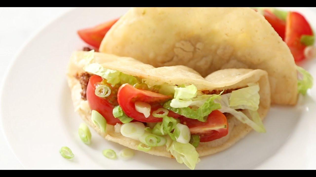 Sarah's Crispy Beef Tacos   Everyday Food with Sarah Carey - YouTube