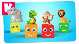 3D Кубики Собирают Пазл с Дикими Животными | Обучающие Мультфильмы | Multi Kids