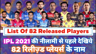 IPL 2021 - First List Of All 82 Released Players After The End Of IPL 2020 | MY Cricket Production
