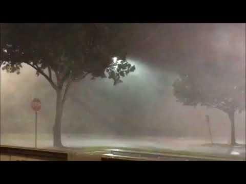 Hurricane Irma: 11:30 PM Sat. ... getting UGLY in Davie, Broward Co. (courtesy of Josh Sullivan)
