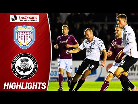 Arbroath 1-1 Partick Thistle | Miller Scores as Jags Move from Bottom Spot | Ladbrokes Championship