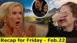 BB Daily Recap | Friday, Feb. 22th | The Bold and The Beautiful Recap | February -2019