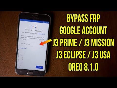 Bypass Frp Samsung J3 Prime || J3 Mission || J3 Eclipse Oreo 8.1.0