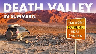 Is it Stupid to Visit DEATH VALLEY in Summer?! (SUV Camping/Vanlife Adventures)