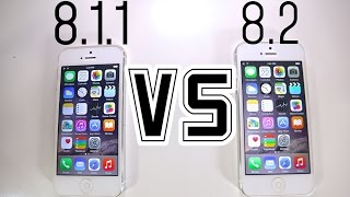 iOS 8.1.1 VS iOS 8.2 - Is It Faster? + What
